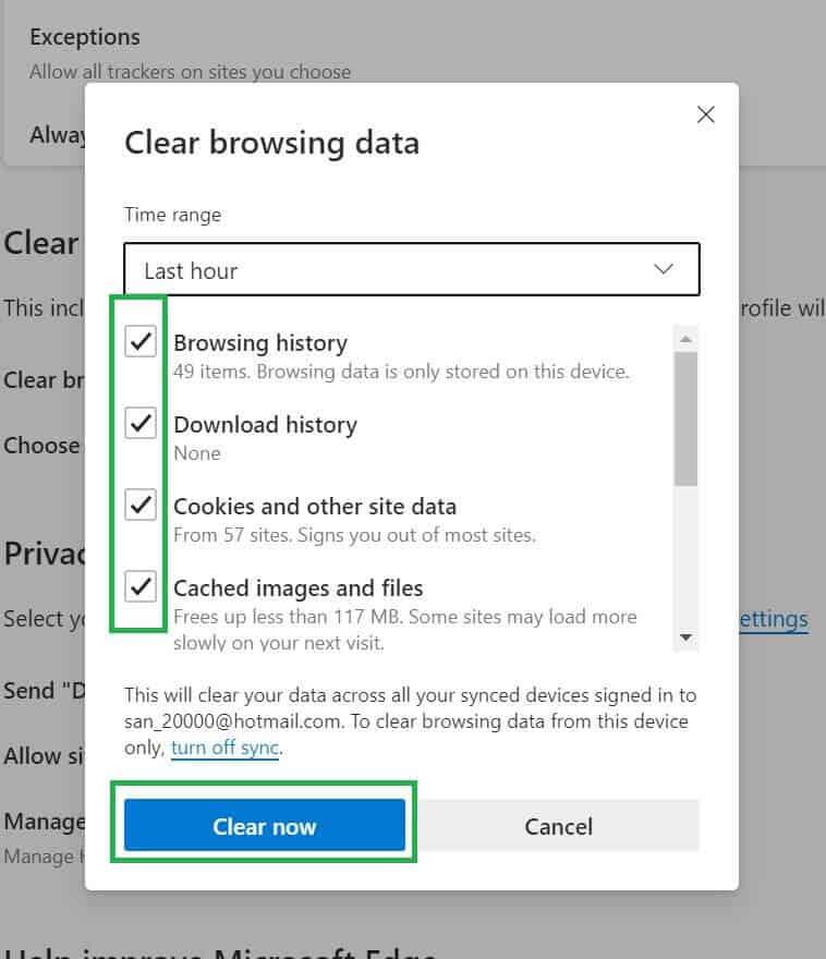 03 วิธีลบแคชใน Microsoft Edge