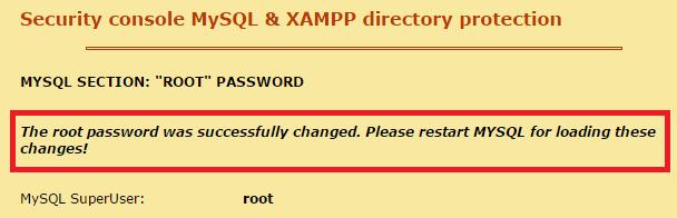 วิธีเปลี่ยนรหัสผ่าน Xampp ใน 3 คลิก