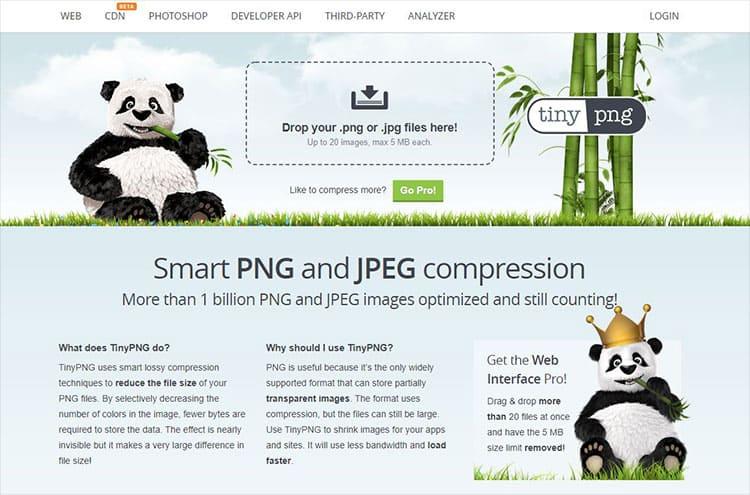 บีบรูปภาพด้วย tinypng.com