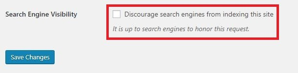 ตั้งค่า Search Engine Visibility ใน WordPress