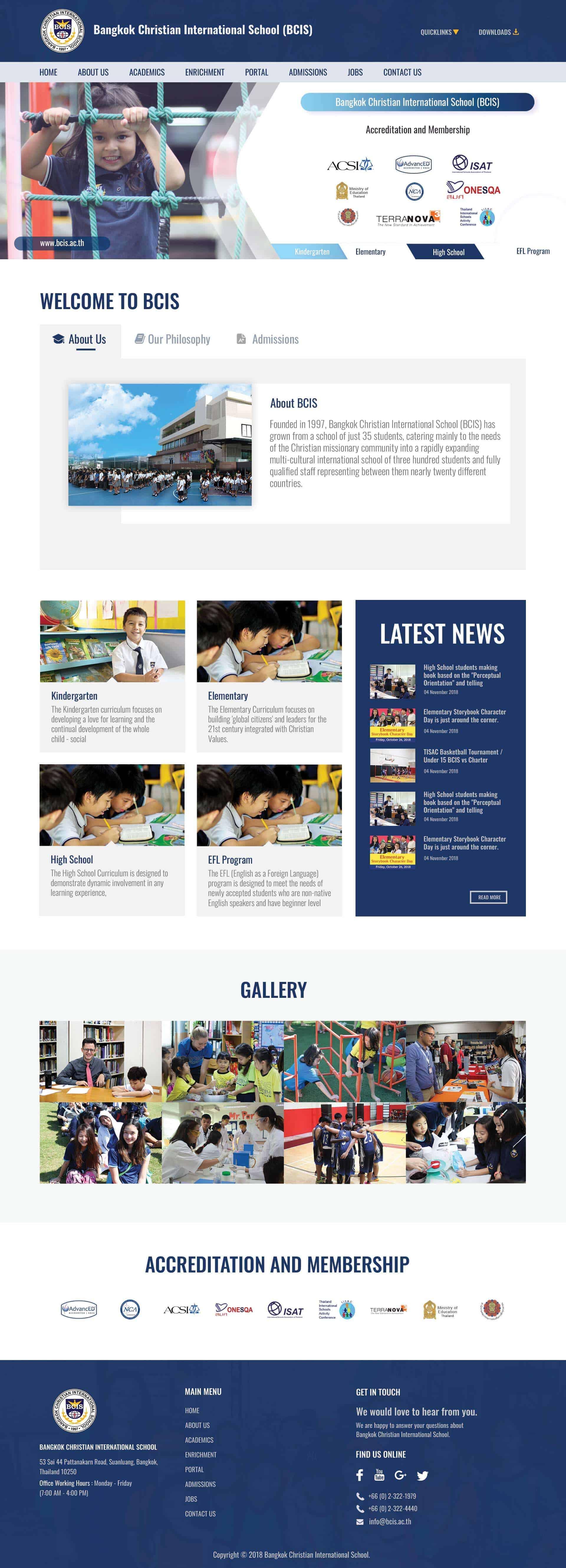 กรุงเทพ ครีสเตียน | เว็บไซต์ (BCIS) - teeneeweb.com