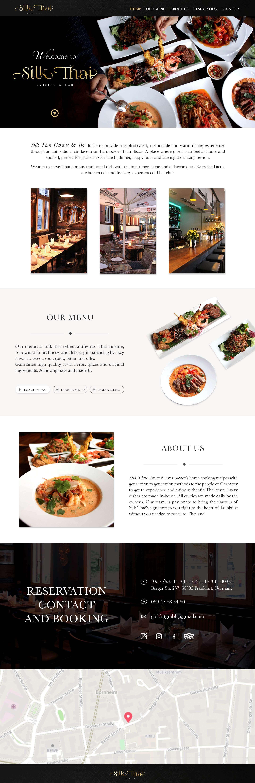 ร้านอาหารไทย | บริการรับทำเว็บไซต์ ออกแบบเว็บไซต์ teeneeweb.com