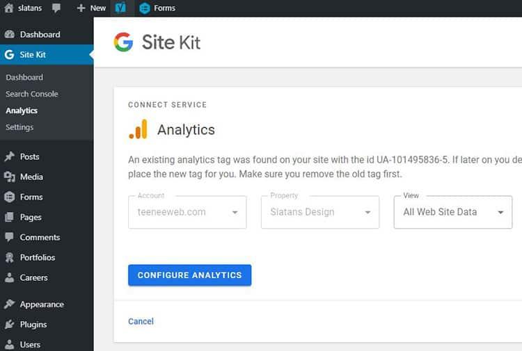 Google Site Kit Config